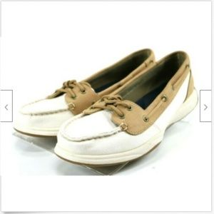Sperry Top Sider Women's Boat Shoes Size 8 Beige